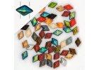 DiamonDuo TM - skleněné dvoudírkové korálky