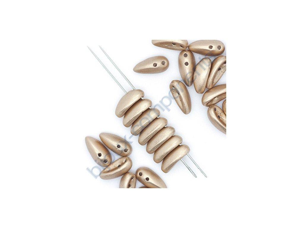 Skleněné mačkané korálky - dvoudírkové PRECIOSA Chilli™