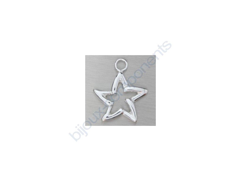 Přívěsek - hvězda, cca 18x15mm
