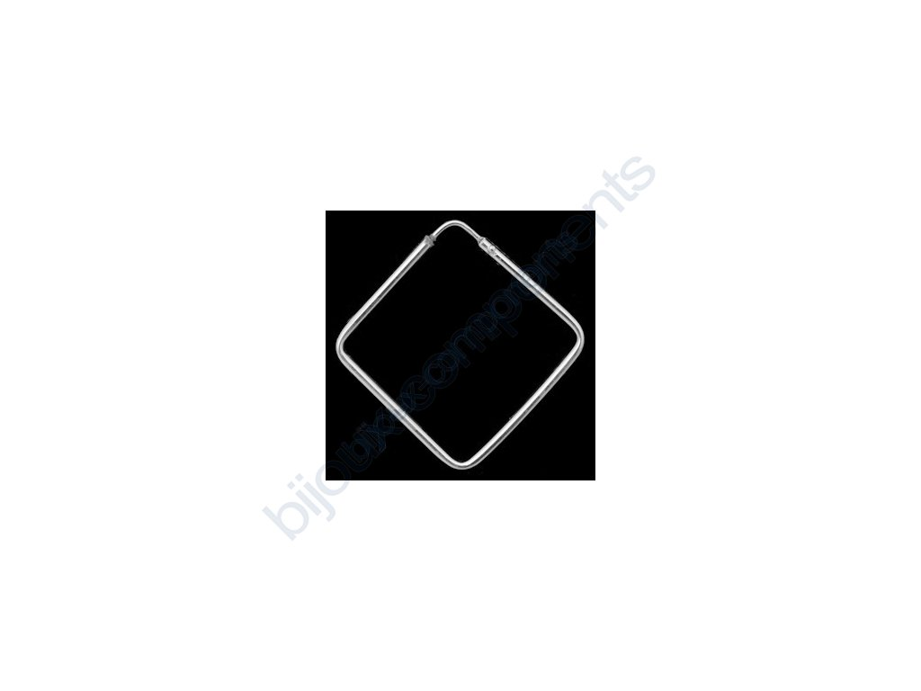 Náušnice - kreole, 25x25mm
