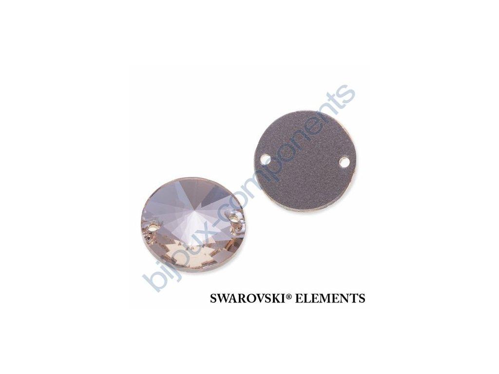 SWAROVSKI ELEMENTS Rivoli našívací kámen, light silk, 14mm