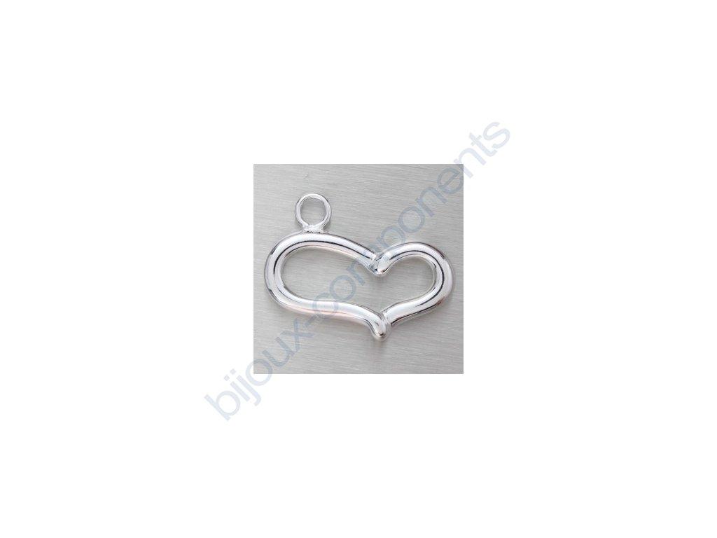 Přívěsek - srdce, cca 15x20mm