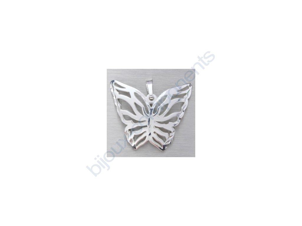 Přívěsek - motýl, cca 20x23mm