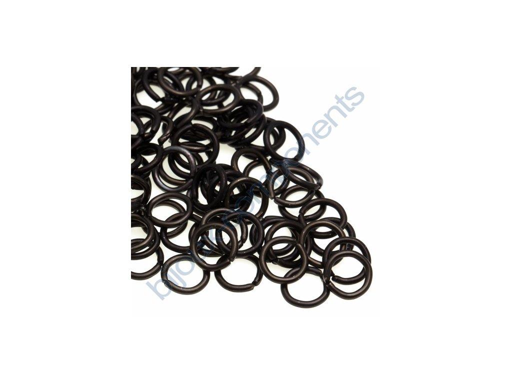 Spojovací kroužek cca 10x1,7mm, černý