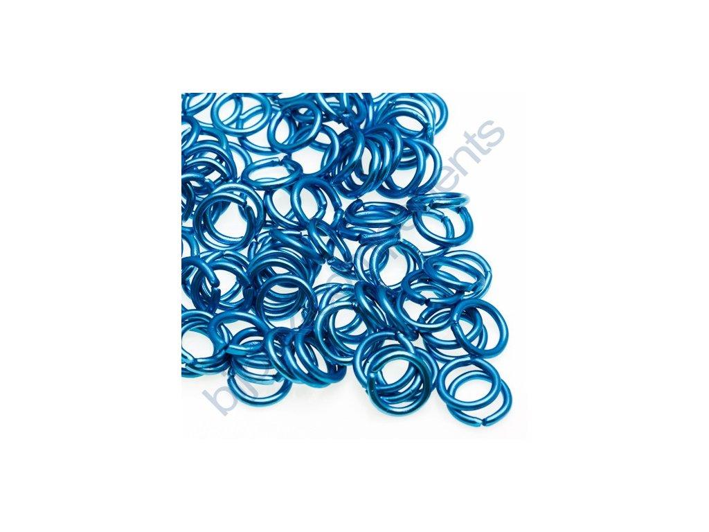 Spojovací kroužek cca 10x1,7mm, světle modrý
