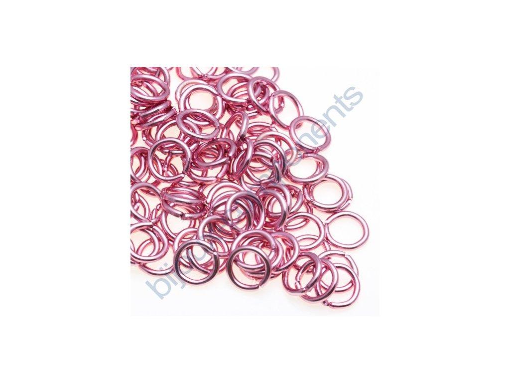 Spojovací kroužek cca 10x1,7mm, světle růžový