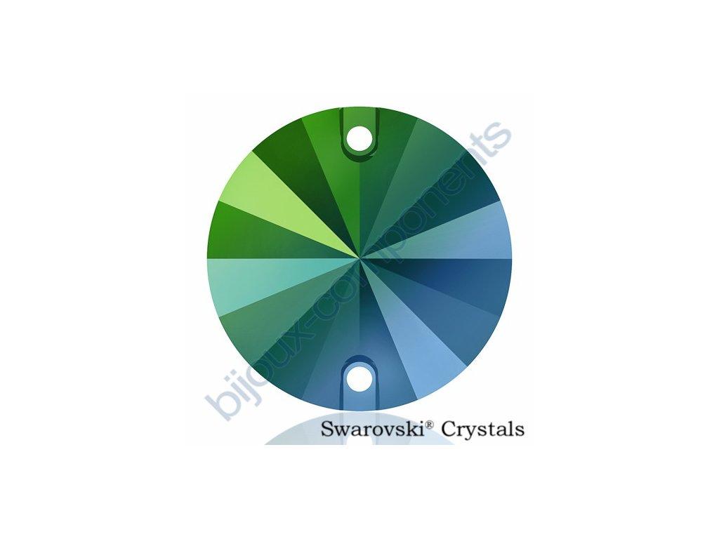SWAROVSKI ELEMENTS Rivoli našívací kámen, crystal scarabeus green F, 10mm