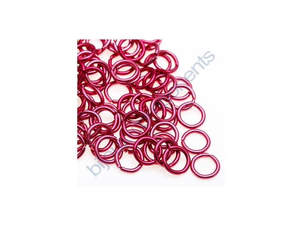 Spojovací kroužek cca 5x0,8mm, růžový