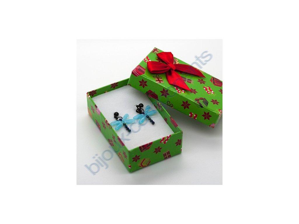 Krabička na šperky, zelená