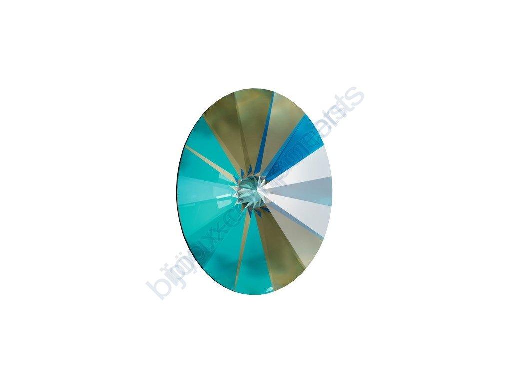 SWAROVSKI CRYSTALS kameny - Oval Rivoli Fancy Stone, crystal army green, 14x10,5mm
