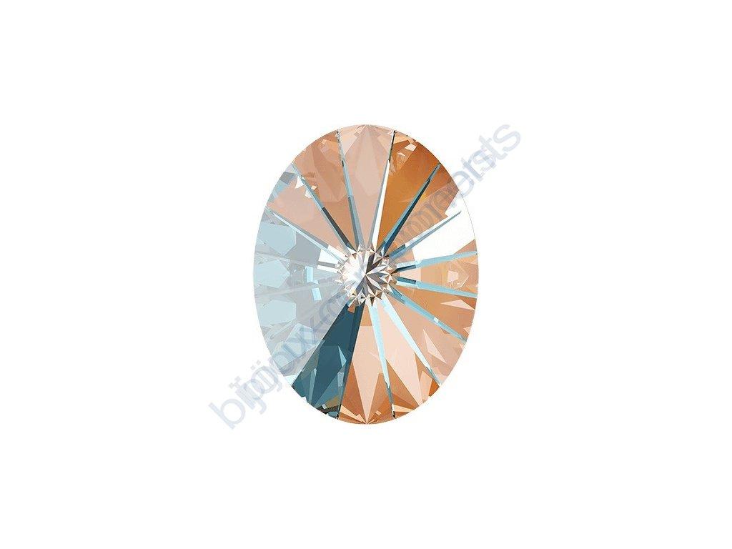 SWAROVSKI CRYSTALS kameny - Oval Rivoli Fancy Stone, crystal peach, 14x10,5mm