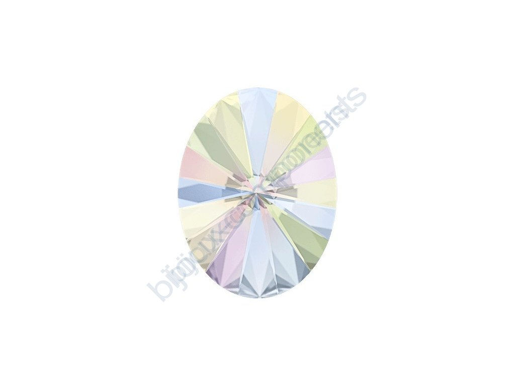 SWAROVSKI CRYSTALS kameny - Oval Rivoli Fancy Stone, crystal AB F, 14x10,5mm