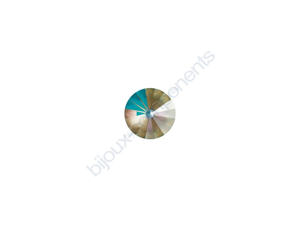 SWAROVSKI CRYSTALS kameny - Rivoli Chaton, crystal army green, 12mm