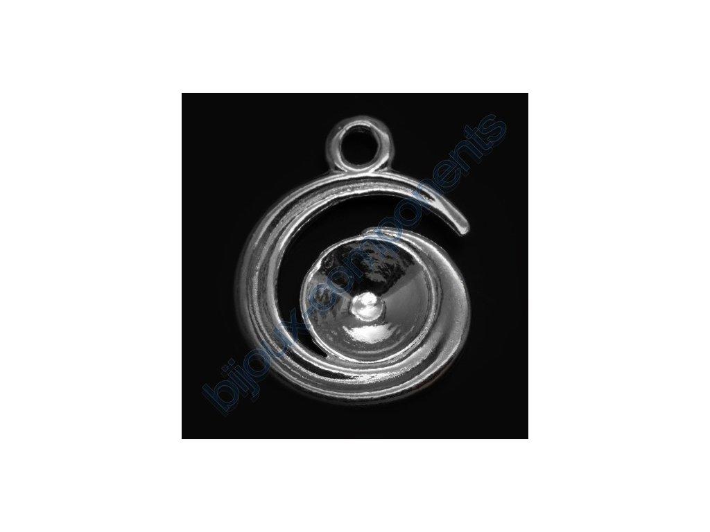 Přívěskový kotlík na rivoli 1122 6mm, cca 15mm