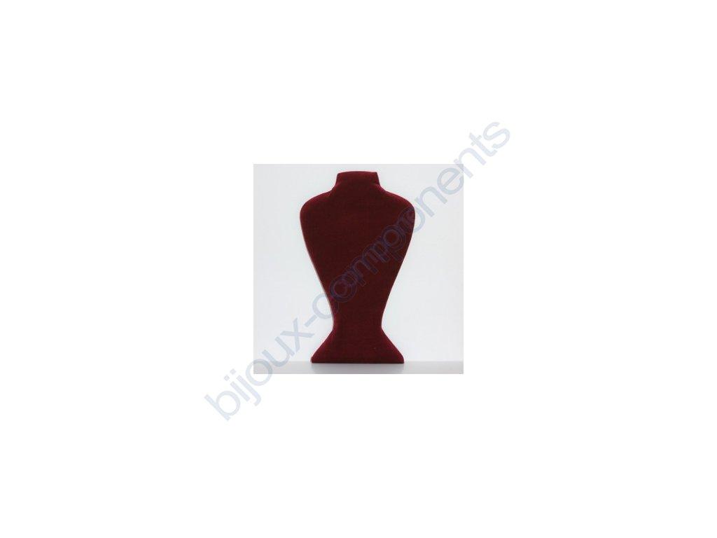 sametový bižuterní krk, 36x21cm, bordó