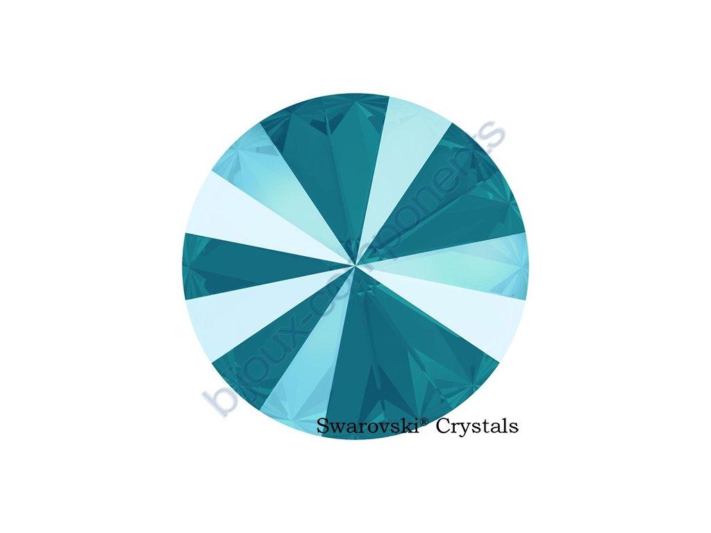 SWAROVSKI CRYSTALS kameny - Rivoli Chaton, crystal azure blue, 12mm