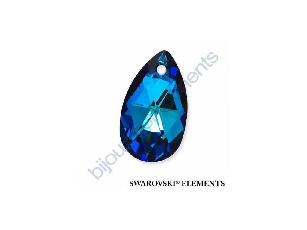 SWAROVSKI ELEMENTS přívěsek - hruška, crystal bermuda blue, 22mm