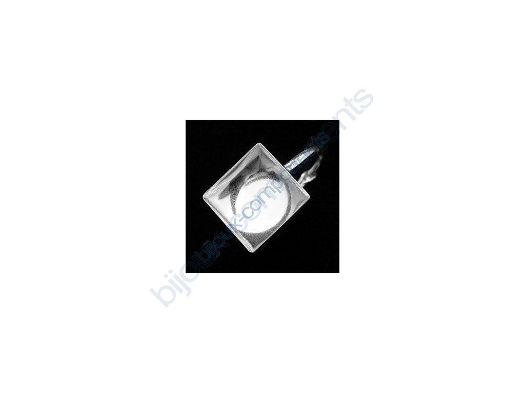 Zavírací náušnice s kotlíkem na chessboard 2493 10mm, cca 16x10,5mm