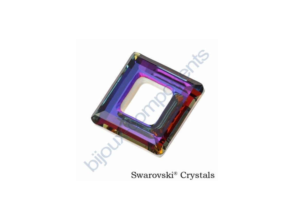 Swarovski tvarovka - čtverec, crystal volcano, 14mm
