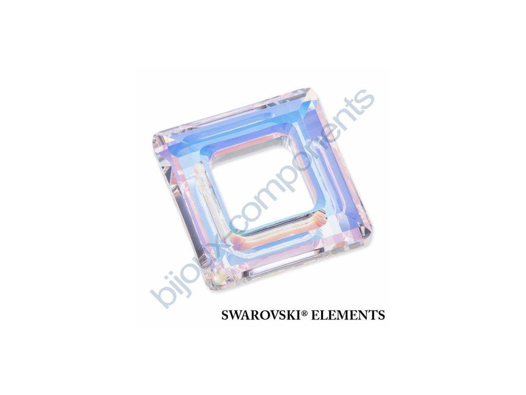 Swarovski tvarovka - čtverec, crystal AB, 20mm