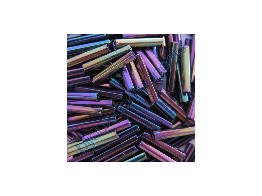 PRECIOSA Skleněné tyčinky hladké - fialový iris