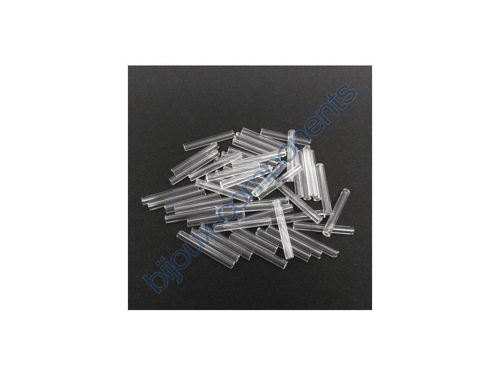 PRECIOSA Skleněné tyčinky hladké - krystal, cca 20mm