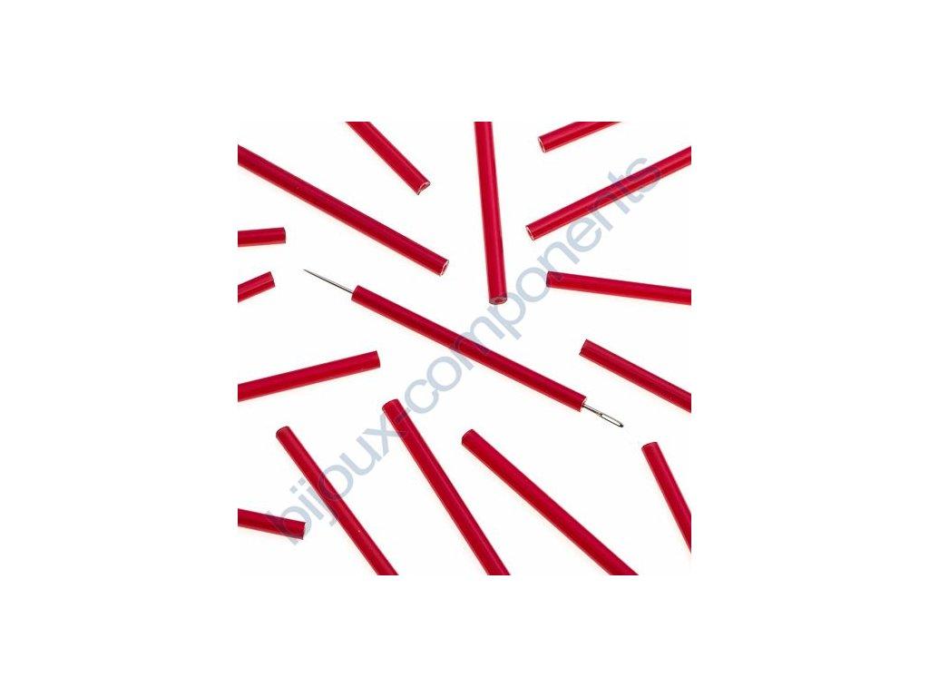 PRECIOSA Skleněné tyčinky, hladké - červené