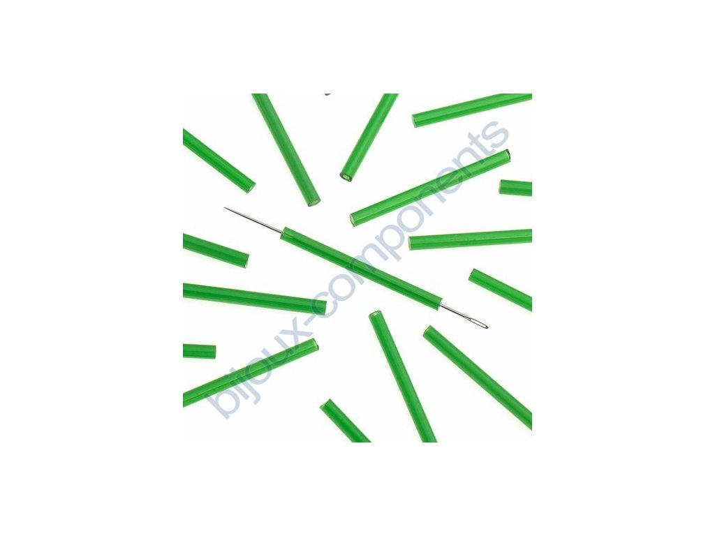 PRECIOSA Skleněné tyčinky, šestihran - zelené