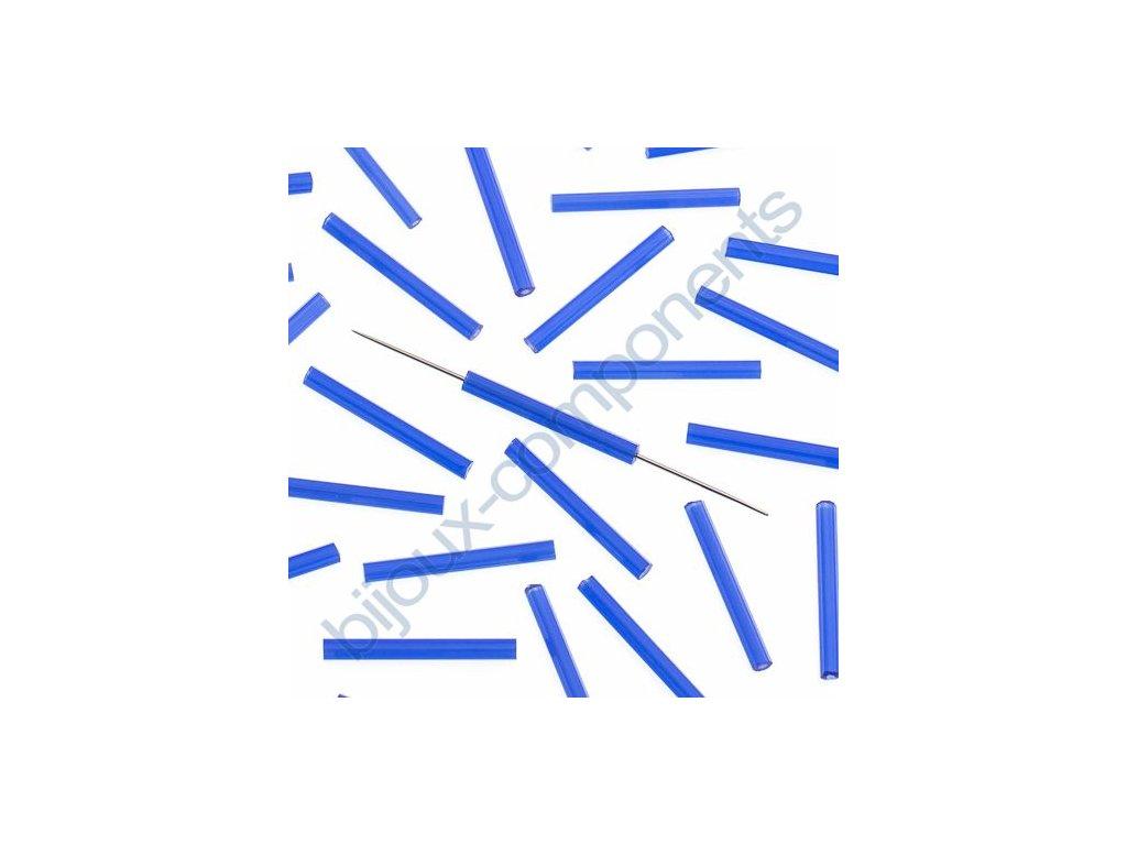 PRECIOSA Skleněné tyčinky, šestihran - kobalt