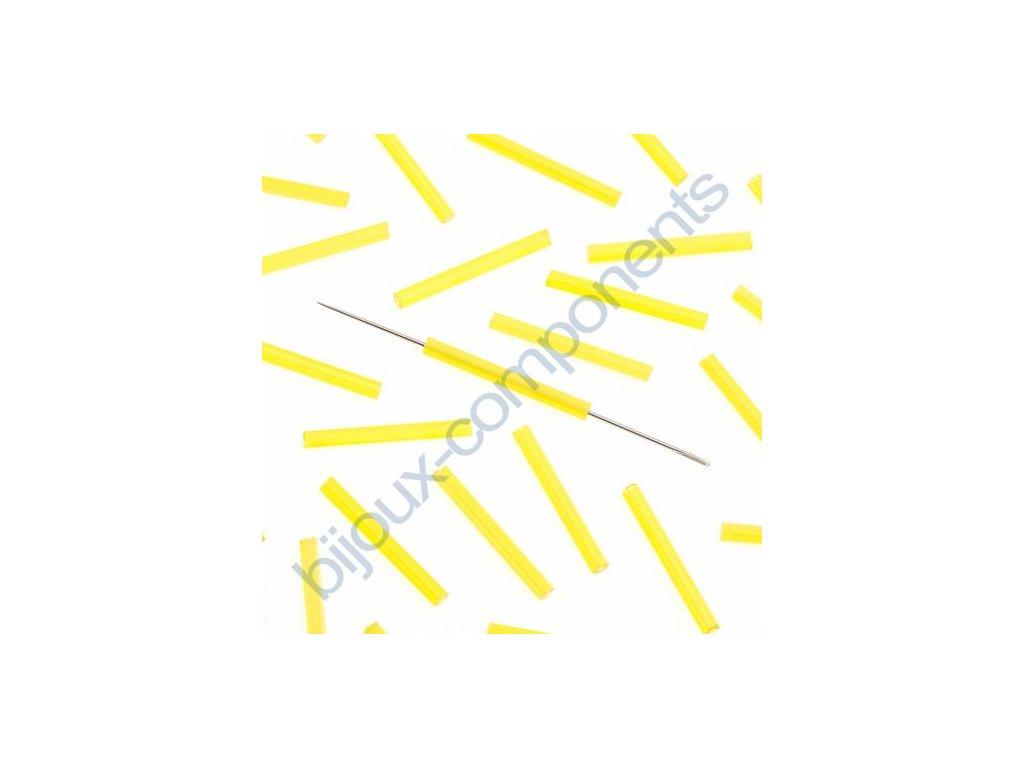 PRECIOSA Skleněné tyčinky, šestihran - žlutá