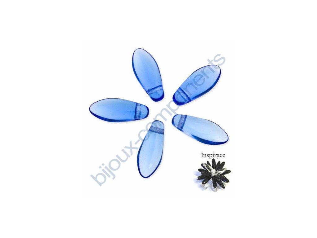 Skleněné jazýčky - modré