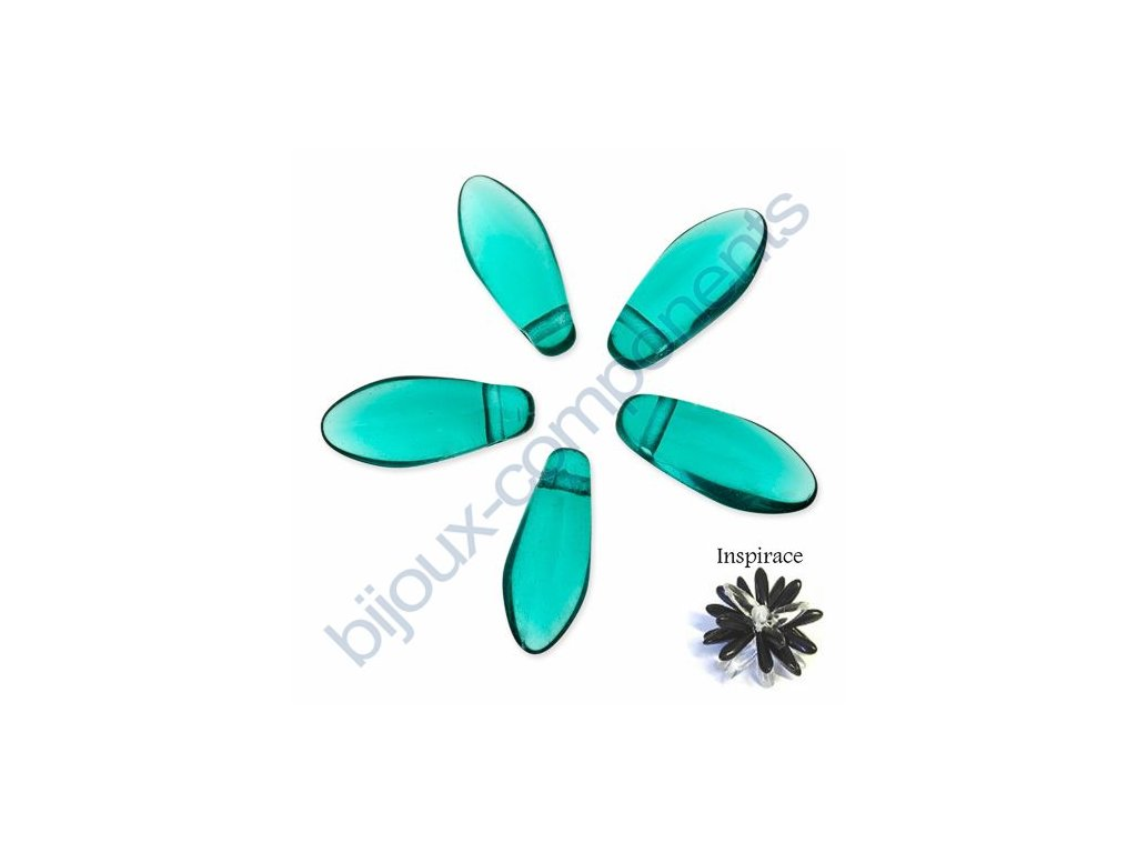 Skleněné jazýčky - emerald