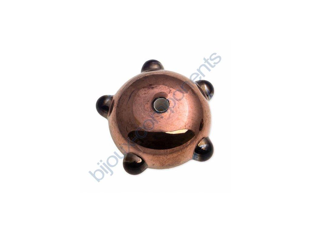 lampové korálky - ručně vinuté,plochý disk - bronzový