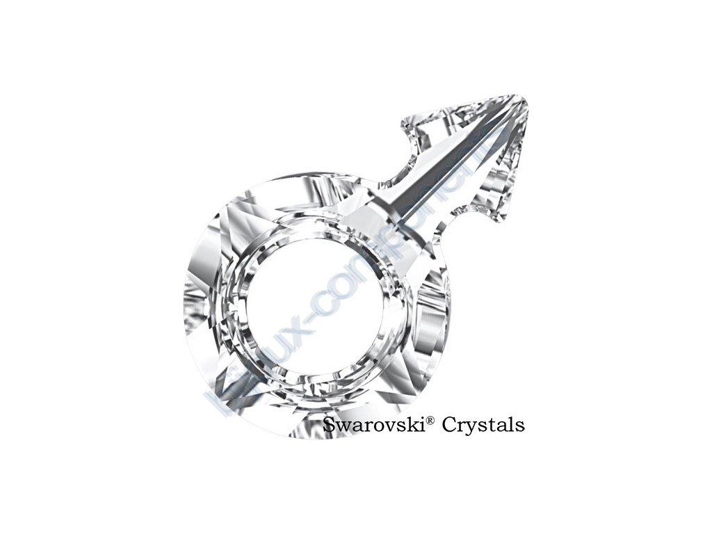 SWAROVSKI CRYSTALS přívěsek - symbol muže, crystal F, 18x11,5mm
