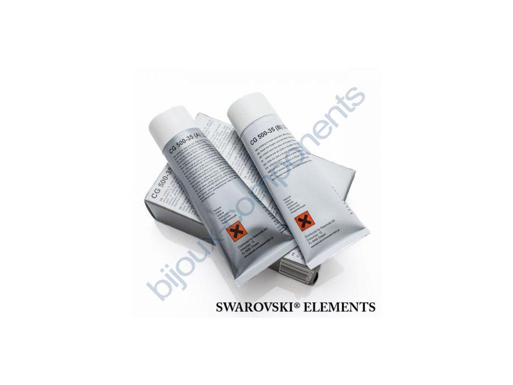 Dvousložkové epoxidové lepidlo Swarovski elements, cca 2x50g