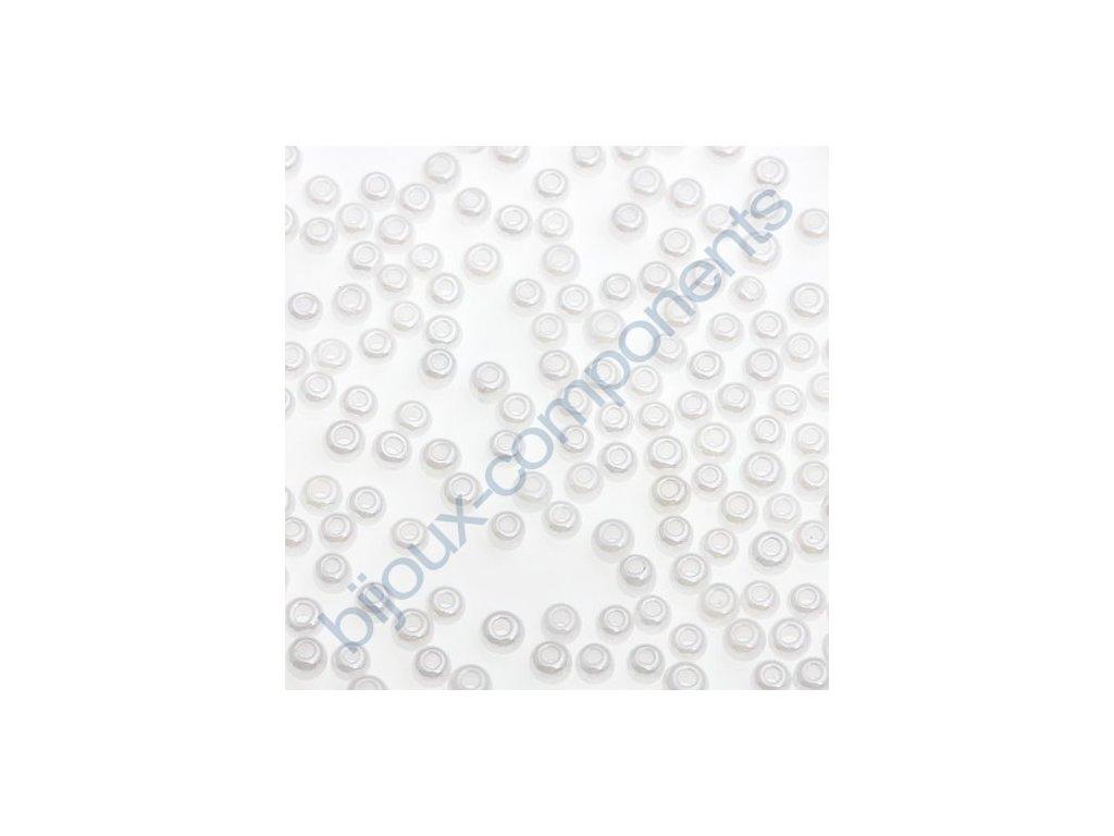 PRECIOSA rokajl - bílá/perleťová , 11/0 cca 2mm