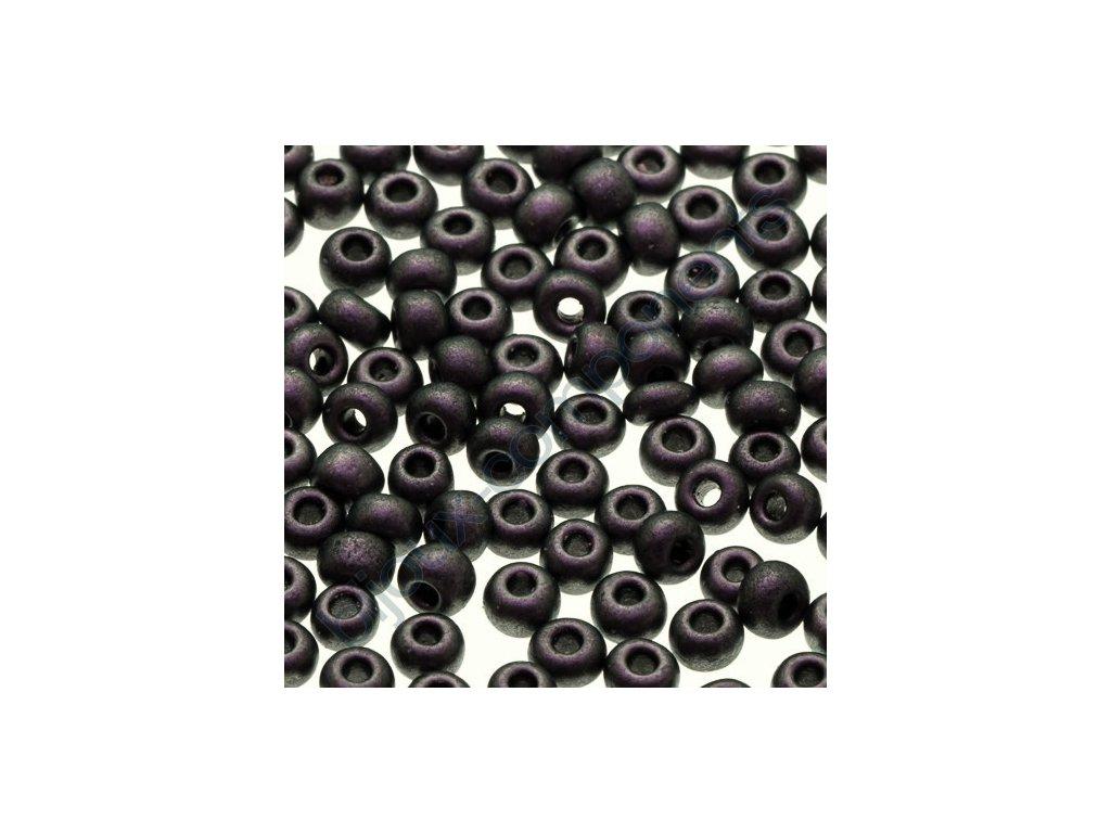 PRECIOSA rokajl - šedý/jemný fialovo-zelený pokov, 11/0 cca 2mm