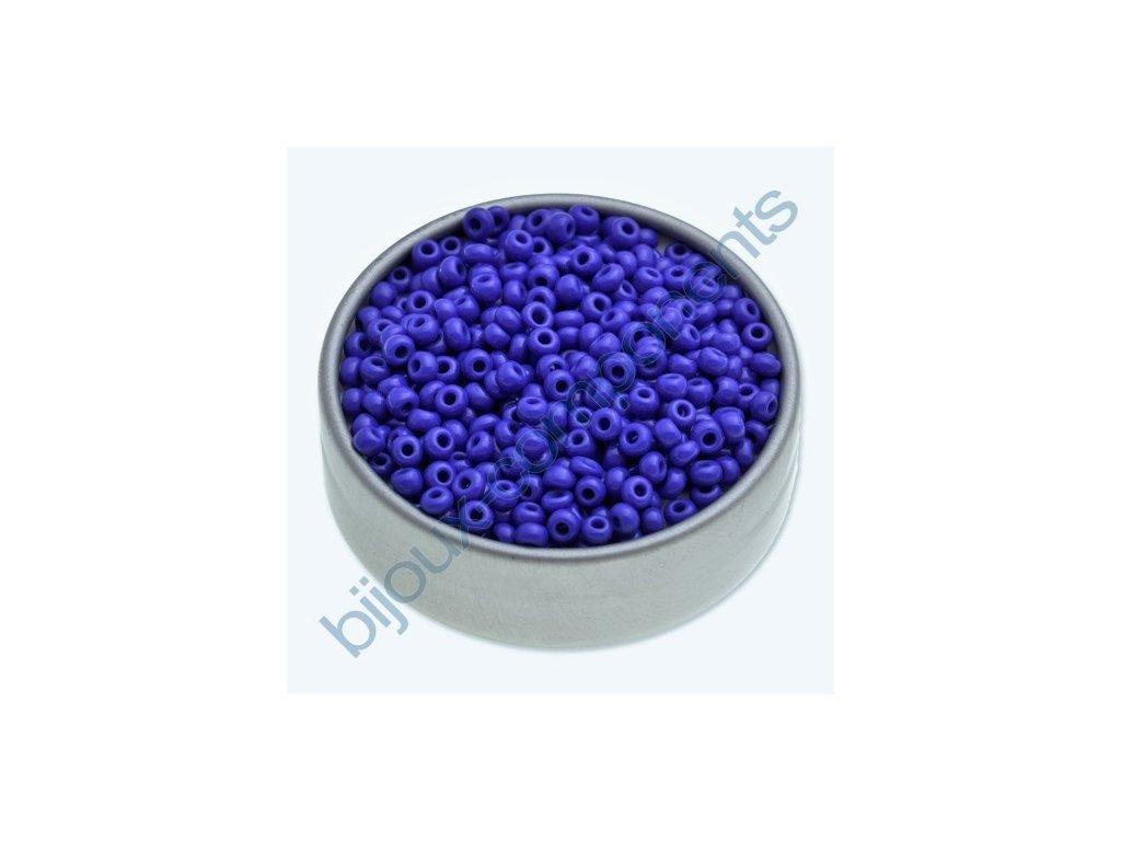 PRECIOSA rokajl - modrý, 6/0 cca 4mm