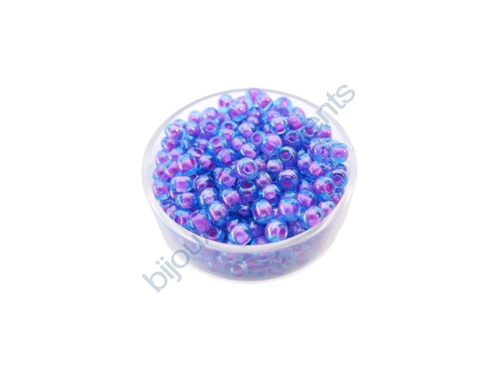 PRECIOSA rokajl - aqua/růžový průtah, 6/0 cca 4mm