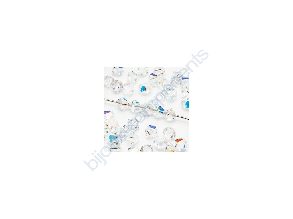 SWAROVSKI CRYSTALS - XILION sluníčko, crystal AB, 4mm