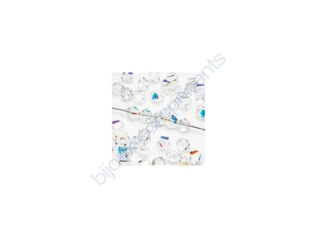 SWAROVSKI ELEMENTS XILION sluníčko, crystal AB, 4mm