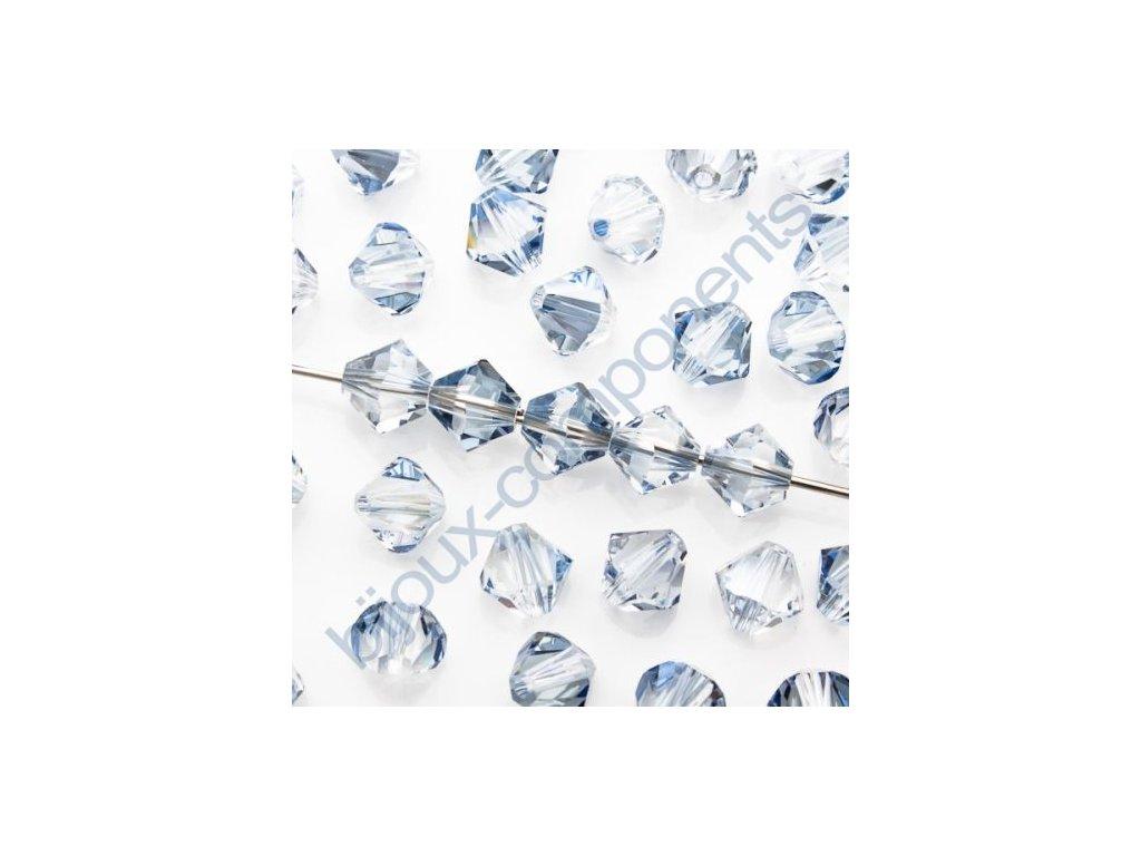 SWAROVSKI ELEMENTS XILION sluníčko, crystal blue shade, 4mm