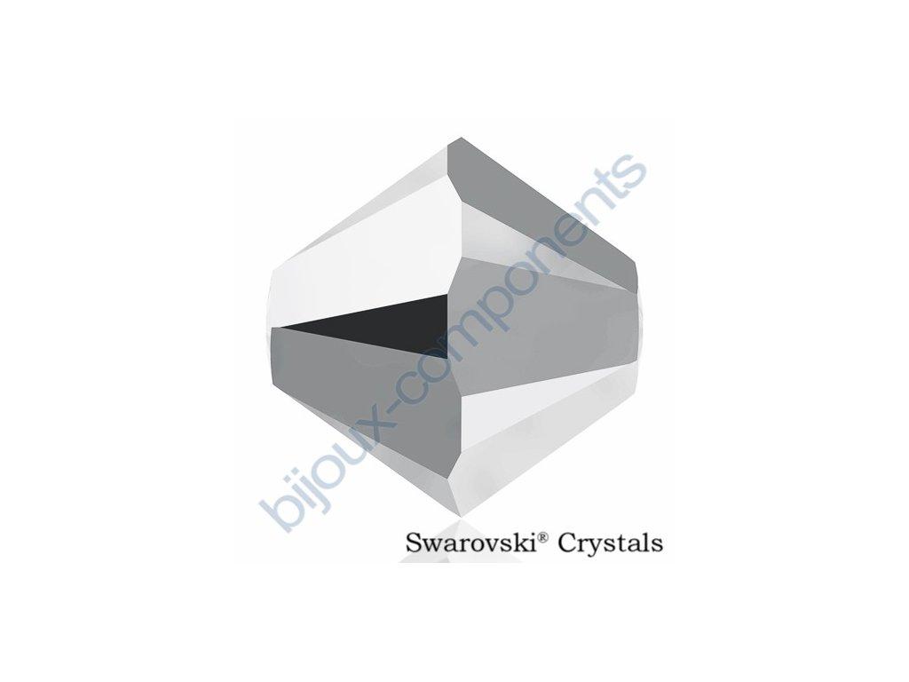 SWAROVSKI ELEMENTS XILION sluníčko, crystal light chrome 2x, 4mm