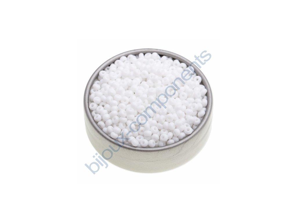 PRECIOSA rokajl - bílá křída, 8/0 cca 3mm