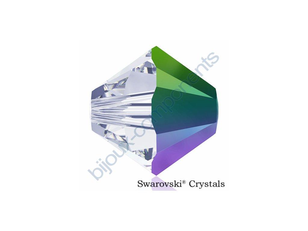 SWAROVSKI ELEMENTS XILION sluníčko, crystal scarabeus green, 4mm