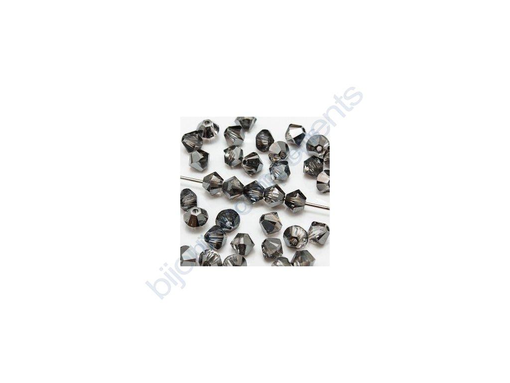 SWAROVSKI ELEMENTS XILION sluníčko, crystal silvernight, 4mm