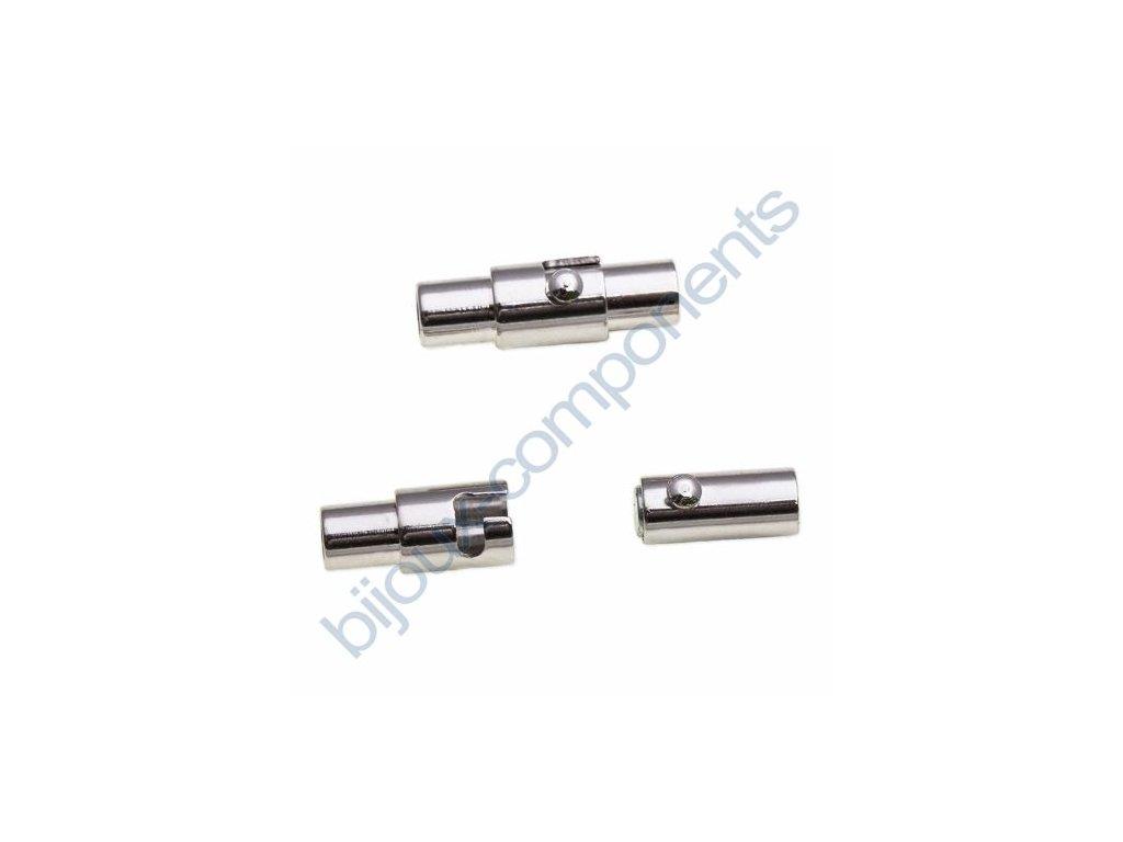 Magnetické zapínání trubička s pojistkou, cca 15mm / 5mm
