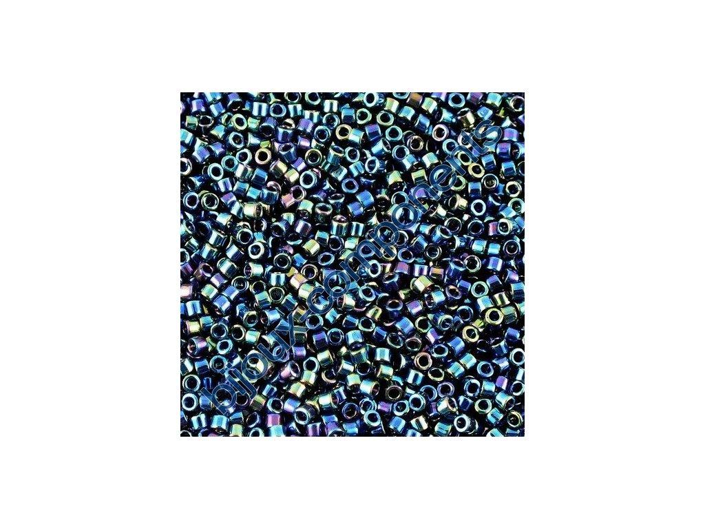 Miyuki Delica, Black AB, vel.1,6 mm, průtah 0,8 mm