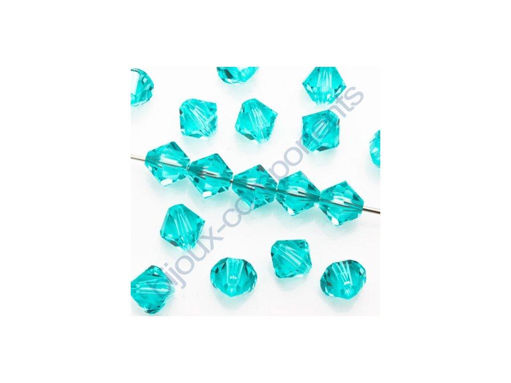 SWAROVSKI ELEMENTS XILION sluníčko, light turquoise, 4mm