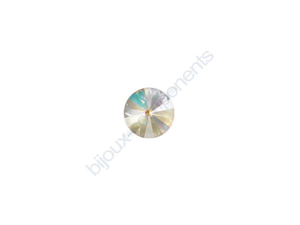 SWAROVSKI CRYSTALS kameny - Rivoli Chaton, crystal light grey, 12mm
